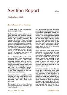 Section Report Michaelmas 2013