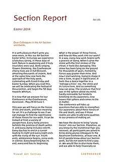 Section Report Easter 2014
